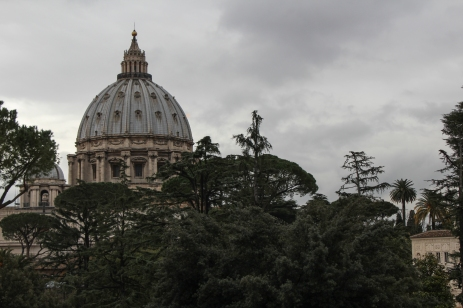 Saint Peter Cathedral dome seen from Vatican Museums