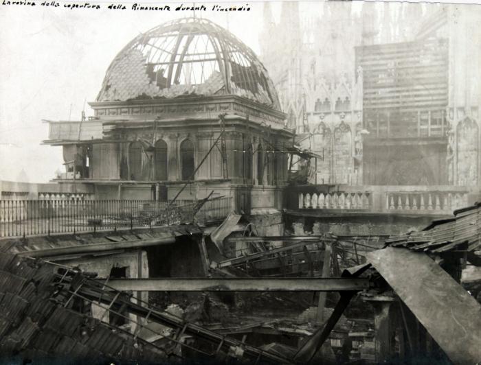 1918-La-Rinascente-dopo-lincendio-veduta-cupolotto